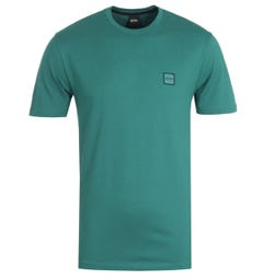 BOSS Tales Logo Badge T-Shirt - Green