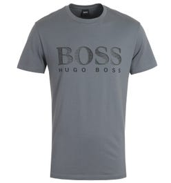 BOSS Bodywear Sustainable UV-Protection T-Shirt - Grey