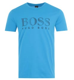BOSS Bodywear Sustainable UV-Protection T-Shirt - Blue