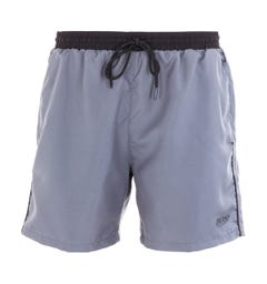 BOSS Bodywear Starfish Minimal Logo Grey Swim Shorts