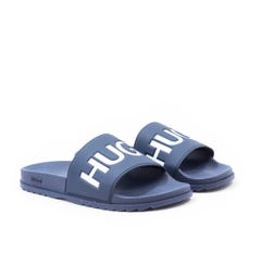 HUGO Match Contrast Logo Slides - Navy