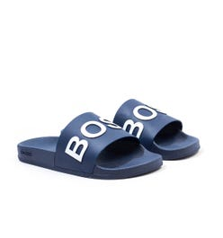BOSS Bay Contrast Logo Slides - Navy