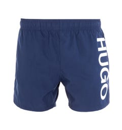 HUGO Abas Large Logo Navy Swim Shorts