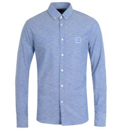 BOSS Mabsoot Slim Fit Blue Shirt