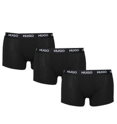 Hugo 3 Pack Logo Black Boxers