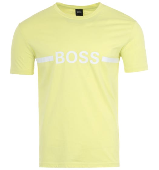 BOSS Bodywear Sustainable Slim Fit UV-Protection T-Shirt - Yellow