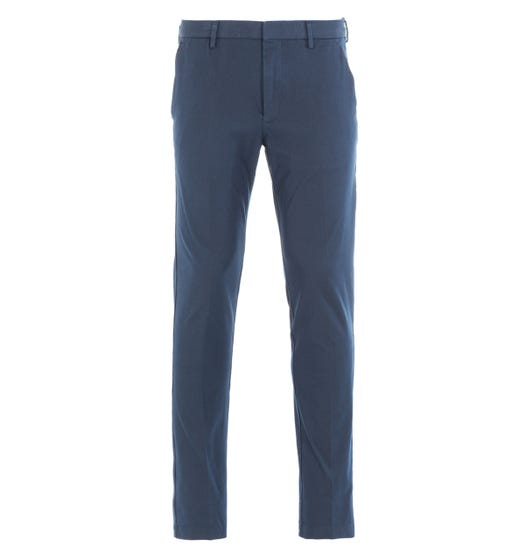 BOSS Kaito Travel Slim Fit Navy Trousers