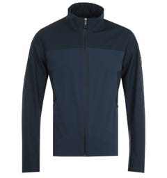 BOSS Water Repellent Stretch Navy Hooded Jacket