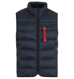 HUGO Baltino Water Repellent Sustainable Navy Padded Gilet