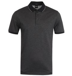 BOSS Prout Tipped Black Polo Shirt
