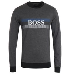 BOSS Bodywear Authentic Logo Sustainable Grey Sweatshirt