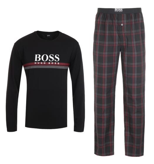 BOSS Bodywear Sustainable Urban Black Pyjama Set