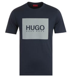 HUGO Dolive Sustainable Classic Logo Navy T-shirt