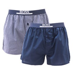BOSS Bodywear 2 Pack Sustainable Cotton Navy Boxers
