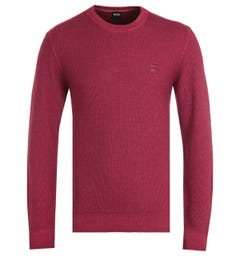 BOSS Kustorio Virgin Wool Red Sweater