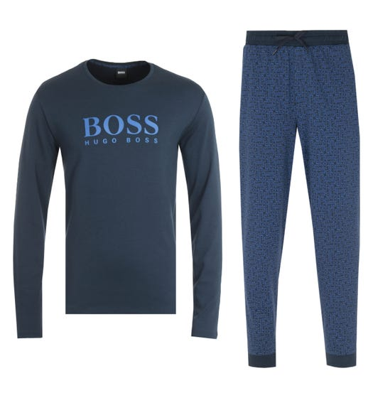 BOSS Bodywear Sustainable Relax Navy Lounge Set