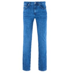 BOSS Delaware Cashmere Touch Blue Slim Fit Jeans