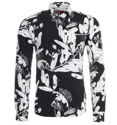 HUGO Ermo Printed Shirt - Black