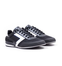 BOSS Saturn Lowp Hybrid Black Trainers