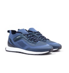 HUGO Icelin Runn Medium Blue Sock Trainers