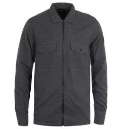 BOSS Lom Zip Dark Grey Overshirt