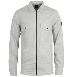 BOSS Lom Zip Light Grey Overshirt