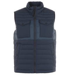 BOSS Pocket Featherweight Water Repellent Down Gilet - Navy