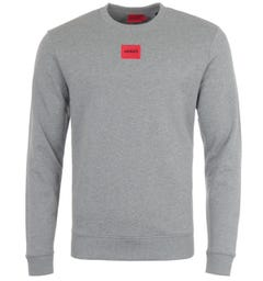 HUGO Logo Patch Sustainable Sweatshirt - Grey