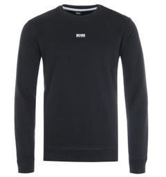 BOSS Central Logo Relaxed Fit Sweatshirt - Black