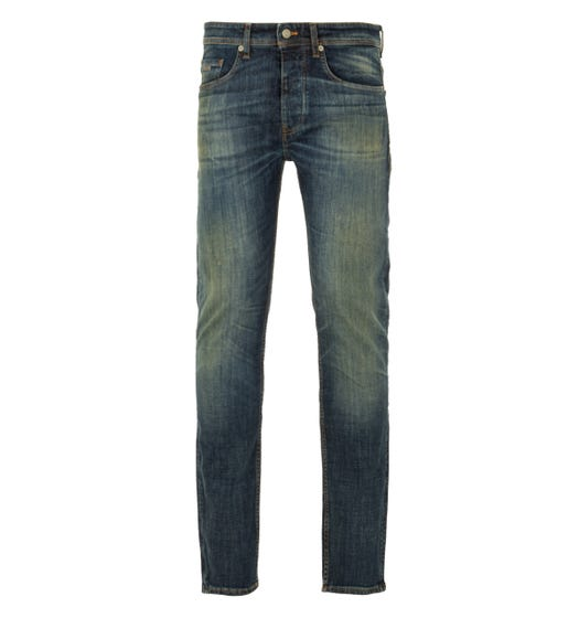 BOSS Taber Comfort Stretch Tapered Fit Jeans - Tinted Dark Blue