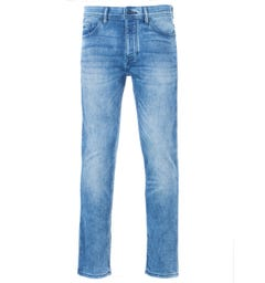 BOSS Taber Super Stretch Tapered Fit Jeans - Washed Blue