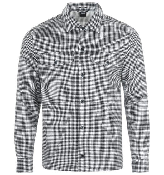 BOSS Narsete Relaxed Fit Overshirt - Houndstooth