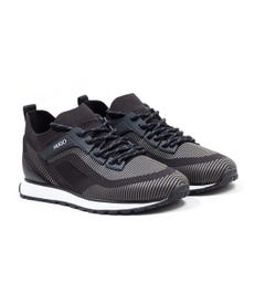 HUGO Icelin Runn Sustainable Sock Trainer - Black