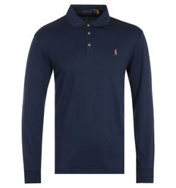 Polo Ralph Lauren Cotton Jersey French Navy Long Sleeve Polo Shirt