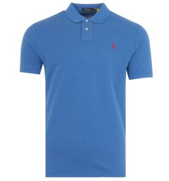 Polo Ralph Lauren Custom Slim Fit Polo Shirt - Royal Heather