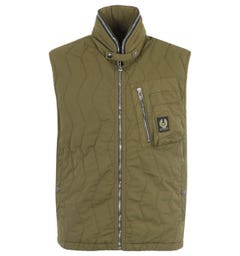 Belstaff Quilted Cargo Vest - Military Olive