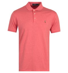 Polo Ralph Lauren Cotton Jersey Polo Shirt - Heather Pink