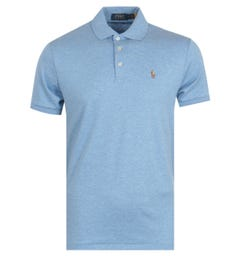 Polo Ralph Lauren Cotton Jersey Polo Shirt - Heather Blue