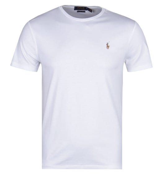 Polo Ralph Lauren Custom Slim Fit Crew Neck T-Shirt - White