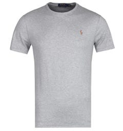 Polo Ralph Lauren Custom Slim Fit Crew Neck T-Shirt - Grey Marl