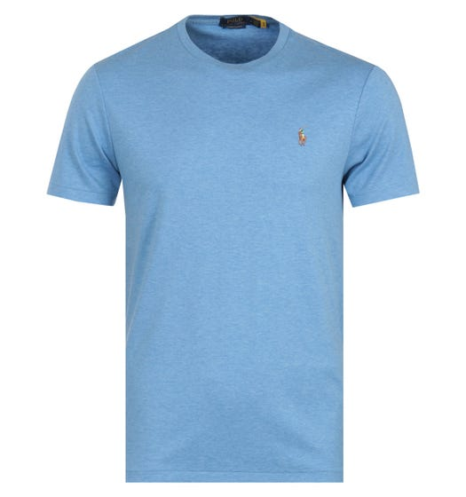 Polo Ralph Lauren Custom Slim Fit Crew Neck T-Shirt - Blue