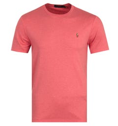 Polo Ralph Lauren Custom Slim Fit Crew Neck T-Shirt - Heather Pink