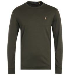 Polo Ralph Lauren Custom Slim Fit Long Sleeve T-Shirt - Olive