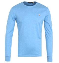 Polo Ralph Lauren Custom Slim Fit Long Sleeve T-Shirt - Blue