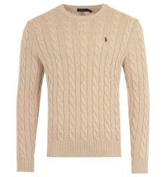 Polo Ralph Lauren Cable Knit Sweater - Beige