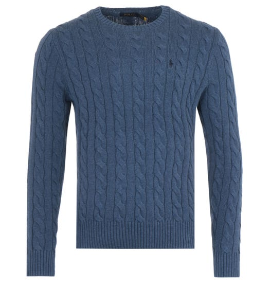 Polo Ralph Lauren Cable Knit Sweater - Blue Heather