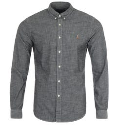 Polo Ralph Lauren Slim Fit Chambray Shirt - Grey