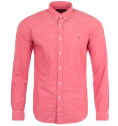 Polo Ralph Lauren Slim Fit Chambray Shirt - Red