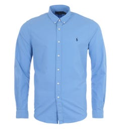 Polo Ralph Lauren Garment Dyed Slim Fit Oxford Shirt - Blue