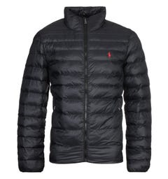Polo Ralph Lauren Packable Quilted Black Jacket